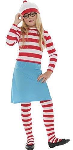 Family Mens Ladies Boys Girls Child's Where's Wally Waldo Wenda Book Day Couples Halloween Party Fancy Dress Costumes Outfits (10-12 Years