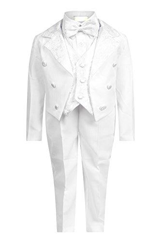 Blanc 5 D'arc Aelstores Ans Mois Garçons Boy Taille Pièce De Cravate 3 Page Âge Pour Costume Parti Mariages HBqT8nw5