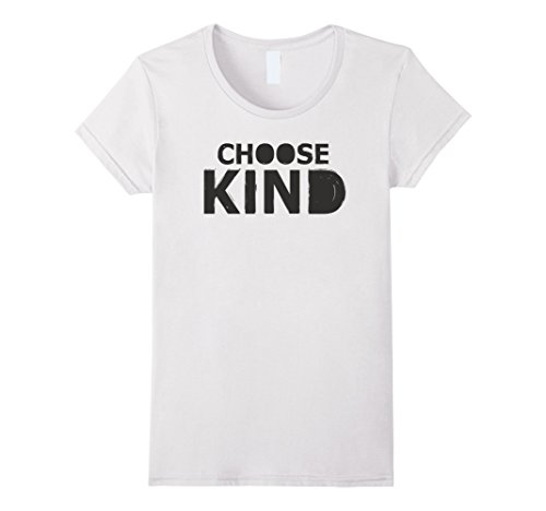 Price comparison product image Womens Choose Kind anti-bullying message t-shirt Small White