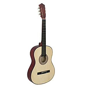 """Smartxchoices 38"""" 6-String Folk Acoustic Guitar for Beginners Music Lovers Kids Gift 4 Colors"""