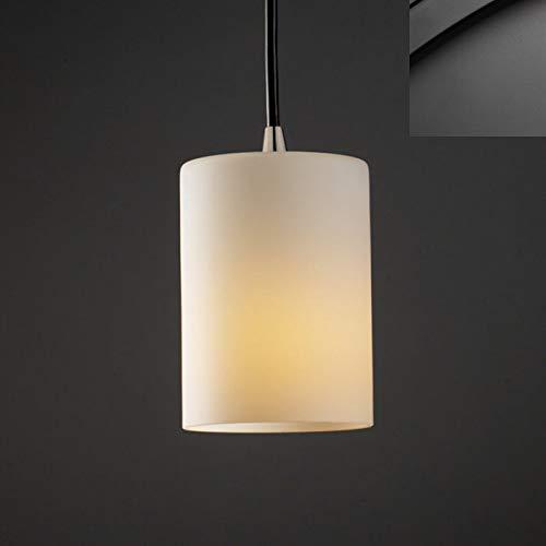 - Justice Design Group FSN-8815-10-OPAL-MBLK Fusion Collection Mini 1-Light Pendant