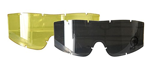 (Additional Goggle Lens in Smoked and Yellow colors, for Lancer Tactical CA-221 CA-223 series goggles)