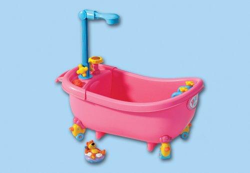 brigamo 538 interaktive puppen badewanne mit funktionierender dusche inkl baby badepuppe und. Black Bedroom Furniture Sets. Home Design Ideas