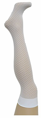 (HUE Womens TIPPED NET Over the Knee SOCKS White - NWT)
