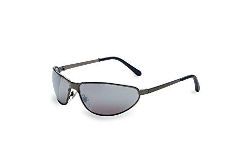 Uvex S2453 Tomcat Safety Eyewear, Gunmetal Frame, Silver Mirror Hardcoat - Shopping Goggles Online