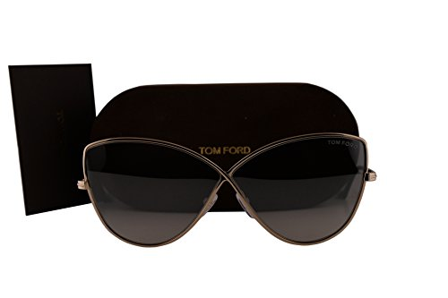 Tom Ford FT0569 Elise-02 Sunglasses Gold Rose w/Smoke Mirror Lens 28C - Butterfly Tom Sunglasses Ford