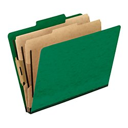 Pendaflex(R) PressGuard(R) Color Classification File Folder, 8 1/2in. x 11in., Letter Size, 60% Recycled, Green, Box Of (10 Tabbed File Folders)