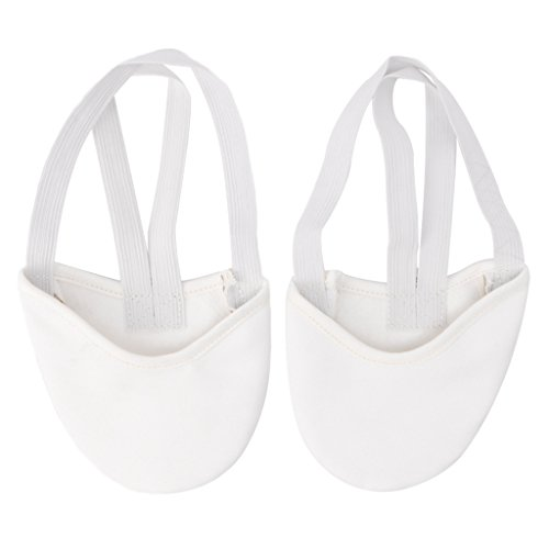 Faux Sole Junlinto Gimnasia Blanco Half Zapatillas Dance Leather Baile De Rítmica Ballet Pointe AA4qwI