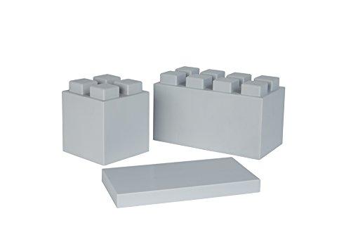 EverBlock Modular Building Blocks Combo Pack, Light Grey, 26 Block
