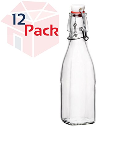 Bormioli Rocco Glass Swing Top Bottle - 8 Ounce