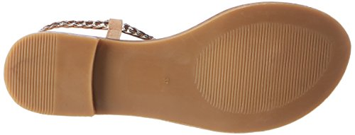 Inuovo 7308, Chanclas Para Mujer Beige (BEIGE-GOLD)