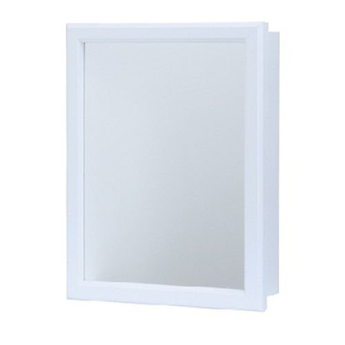 RSI Cbs1620-12-r-b 15 1/4'' X 5'' X 19 1/4'' White Finish Mirrored Medicine Cabinet by WallEc
