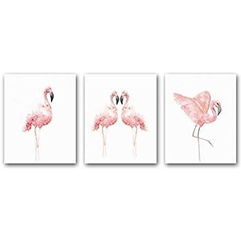 HPNIUB Nordic Flamingo Wall Art Print Set of 3 (8