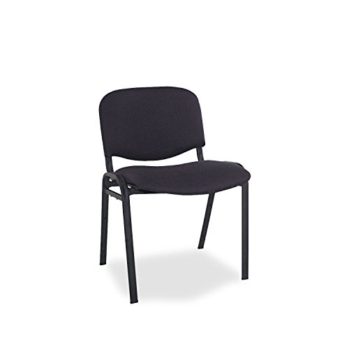 Alera Continental Series (Alera SC67FA10B Continental Series Stacking Chairs, Black Fabric Upholstery, 4/Carton)