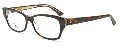 Discount Eyeglass Frames - Dior Montaigne 10 Women Prescription Eyeglasses Frame Havana (0G9Q), 54mm