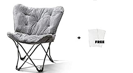 Swell Mainstay Butterfly Chair Grey Faux Fur Free Cleaning Fabric Cloth Squirreltailoven Fun Painted Chair Ideas Images Squirreltailovenorg