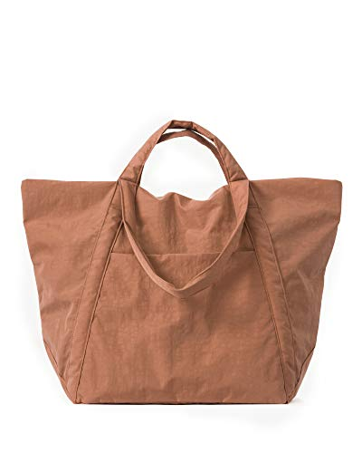 BAGGU Travel Cloud Bag, Lightweight Nylon Packable Tote for Travel or Everyday Use, Terracotta