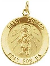 Sterling Silver 18 mm Round St Edward Medal St Edward Medal