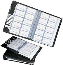 Rolodex Business Card Binder Refill Pages -