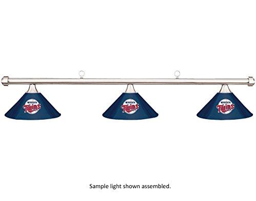 Imperial MLB Minnesota Twins Retro Logo Blue Metal Shade & Chrome Bar Billiard Pool Table Light