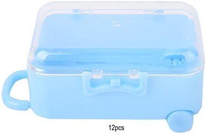 キャンディーボックス、12PCSミニローリング旅行スーツケースの形の結婚式の好意のギフトの装飾のためのキャンディーボックス(青い)