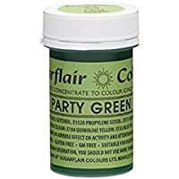 Sugarflair Spectral Paste Gel Edible Food Colouring Icing 25G - Party Green