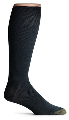 Gold Toe Mens Firm Support Compression Socks (Available in Big & Tall), Shoe Size 7 1/2 - 10, Navy