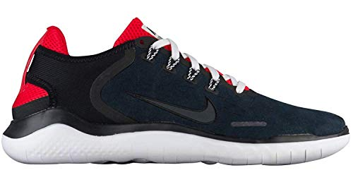 (Nike Free RN 2018 DNA Running Shoe, Black/Anthracite-Speed Red, 12)