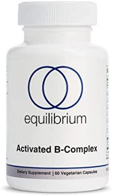 Activated Vitamin B Complex | for Energy, Mood and Stress Support | Methylated B Complex Vitamins | MTHFR | B12, B6, Folate, Biotin | Vegan, 60 Capsules | Equilibrium Nutrition