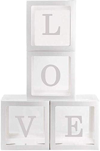 CerisiaAnn Adornos para Baby Shower Transparente Caja, 4Pcs ...