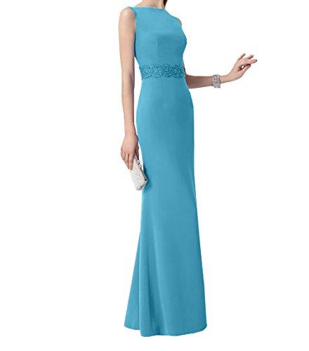 Brautmutterkleider Blau Trumpet Kleider Festlichkleider Damen Jugendweihe Ballkleider Abendkleider Langes Charmant qtAzZt