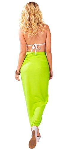 Sarong Uni World para Lemon Sarongs Green Jumpsuit Sin Mujeres 1 Volantes rrdaq7w