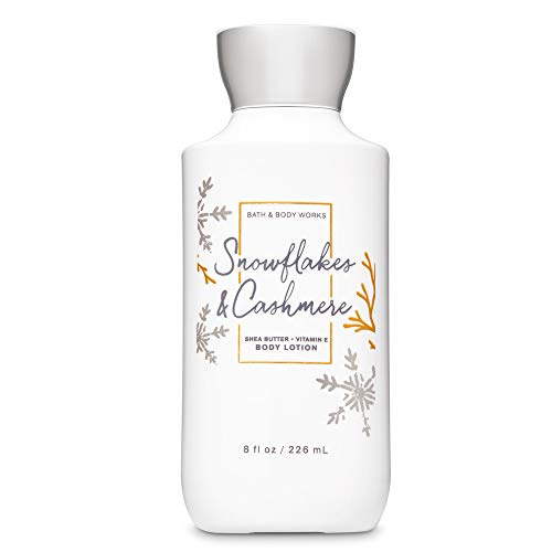 Bath and Body Works Snowflakes & Cashmere 24 hr Moisture Super Smooth Body Lotion with Shea Butter and Vitamin E 8 fl oz / 236 mL