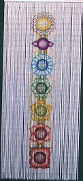 chakra beaded curtain 125 strands hanging