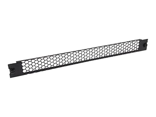 StarTech.com Blanking Panel – 1U – Vented – 19in – Tool-less – Steel – Black  – TAA Compliant – Blank Rack Panel – Filler Panel