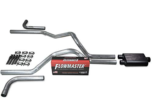 Truck Exhaust Kits - Shop Line dual exhaust system 2.5 AL pipe Flowmaster 40 Side Exit (Side Pipes Dual)