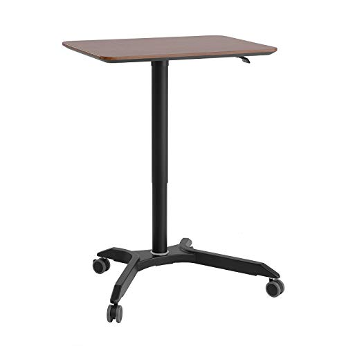 SONGMICS Mobile Laptop Desk Rolling Cart, Height Adjustable Standing Table from 27.2