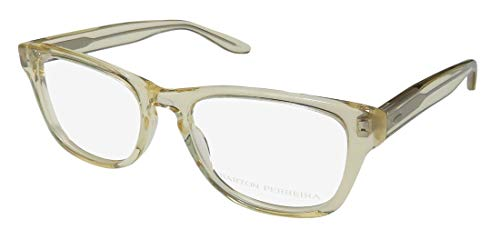 Barton Perreira Patsy Womens/Ladies Designer Full-rim Brand Name Spectacular Eyeglasses/Eyeglass Frame (49-17-140, Yellow Crystal) (Brillen Made In Japan)