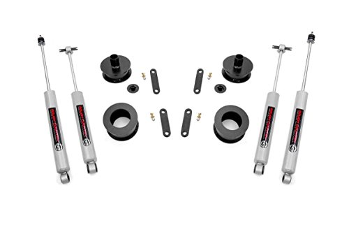 Rough Country - 62130- 2.5-inch Entry Level Suspension Lift Kit w/ N3 Shocks for Jeep: 07-18 Wrangler JK 4WD, 07-18 Wrangler Unlimited JK 4WD