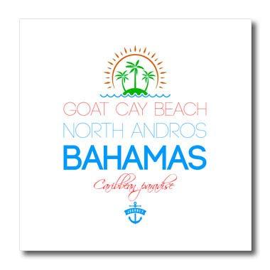 3dRose Alexis Design - Caribbean Beaches Bahamas - Goat Cay Beach, North Andros. Summer, Souvenir - 8x8 Iron on Heat Transfer for White Material (ht_315831_1)