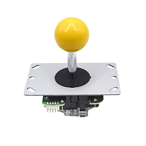 Joystick Cable - Marwey Yellow Ball Top Handle 5 Pin Micro Switches 4 & 8 Way Adjustable Arcade Joystick Replacement Cable Parts for Mame Jamma Arcade USB Encoder PC Game Cabinet DIY Joystick and Button Kit...