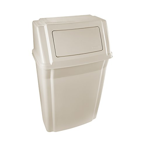 - Rubbermaid Slim Jim Wall Mounted Container, 56.8 L - Beige