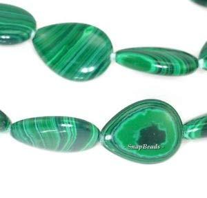Hedge Mazes Green Malachite Gemstone Grade A Teardrop 18X13MM Loose Beads 15.5