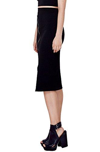 Women's Fashion Trendy Zip Up Classic Pencil Skirt USA (Plus Size) XS35 1XL