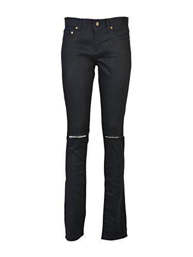 4429545382e197 85%OFF SAINT LAURENT WOMEN'S 398184YYK081000 BLACK COTTON JEANS ...