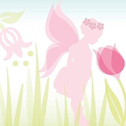 """motif avec f/ées /""""Lovely Fairies/"""" rose//taupe pour chambre d/'enfants fille anna wand design frise murale auto-adh/ésive 450 x 11,5 cm"""