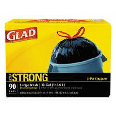30 Gallon Drawstring - GLAD 70313 Drawstring Outdoor 30-Gallon Trash Bags, 1.05 Mil, 30