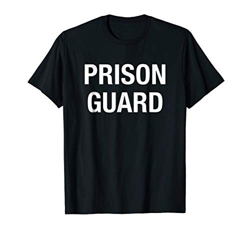 Prison Guard Costume Shirt Corrections Officer