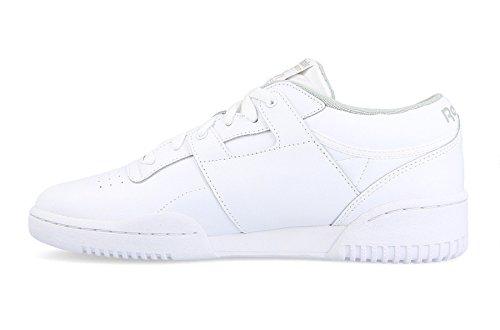 Reebok Workout Low, Zapatillas de Deporte Para Hombre, Blanco (INT/White/Grey 000), 43 EU