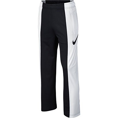 NIKE Boys' Dry Performance Knit Pants, Black/White, Large